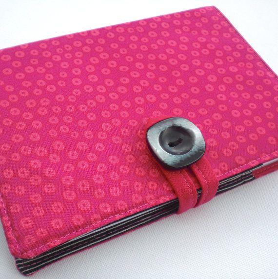 A6 Notepad Cover  Pink Pinstripe by RitzySwish on Etsy, £13.00