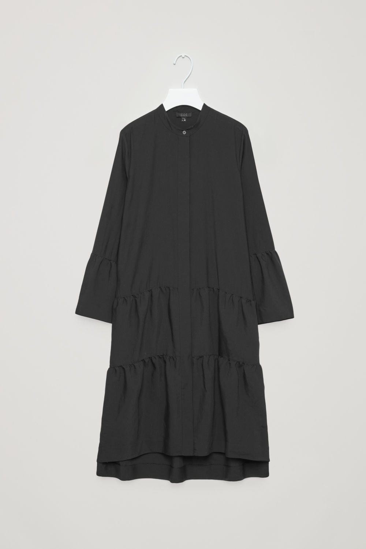 e0b76276eee4 HANDKERCHIEF-HEM SHIRT DRESS - Green - Shirt dresses - COS GB ...