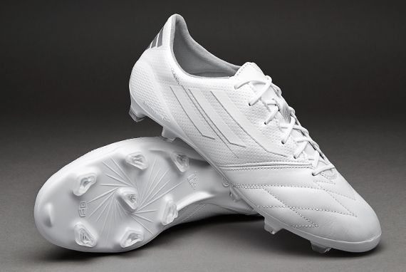 7a211ab3fb1c adidas Football Boots - adidas F50 adizero Leather FG - Firm Ground -  Soccer Cleats - Running White-Metallic Silver