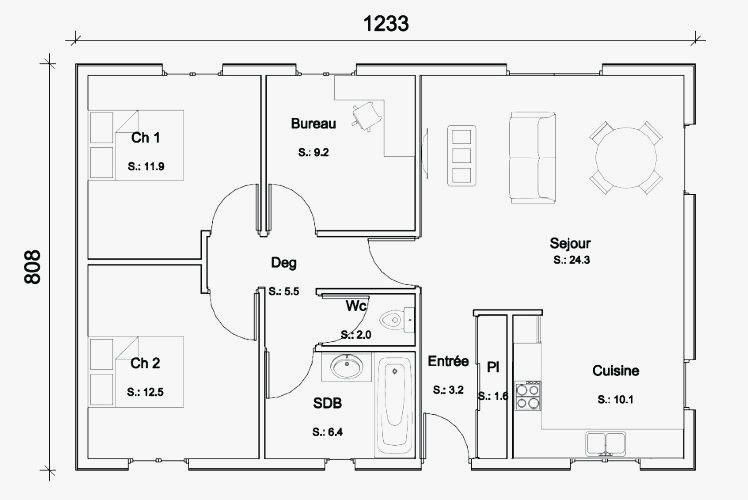 Plan Maison Moderne Gratuit A Telecharger Plan De Maison Gratuit Plan Maison Plan Maison Moderne