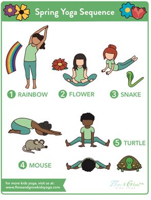 spring yoga sequence with images  kids yoga poses yoga