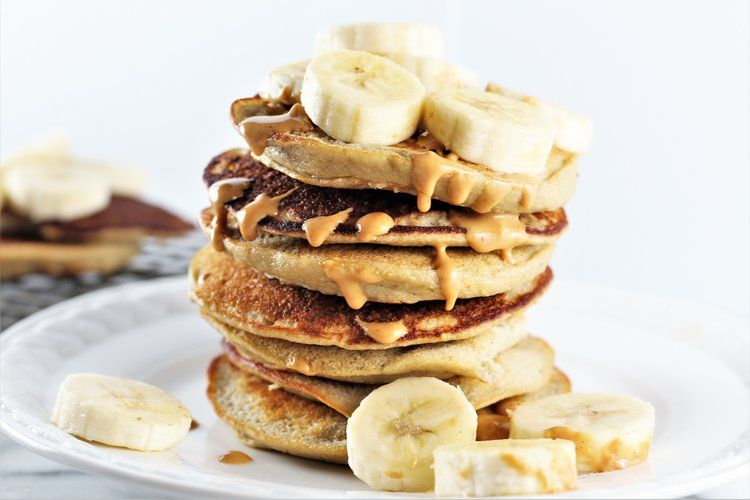 Gluten free banana oat pancakes milk honey nutrition