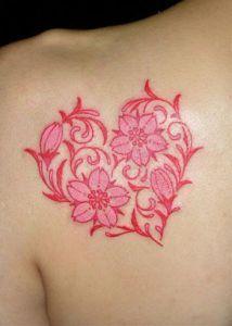 Corazon De Flores Tatuaje