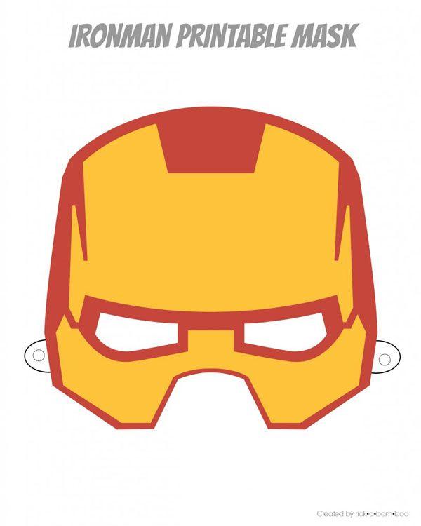 Free superhero printable masks. Six designs to choose from. | ambersimmons.com
