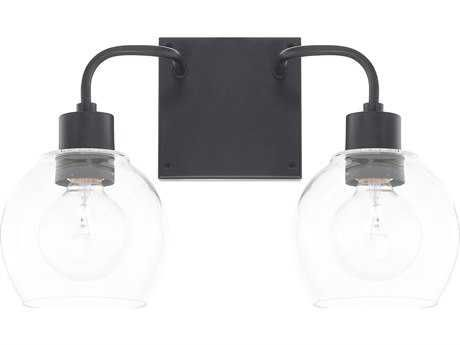 Capital Lighting Homeplace Matte Black Two Light Vanity Light Vanity Lighting Capital Lighting Bathroom Light Fixtures