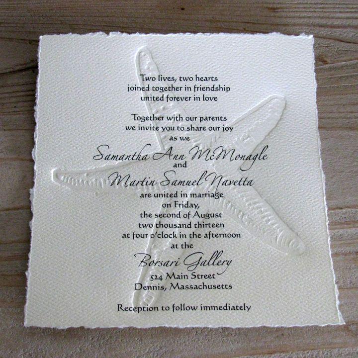 Starfish Wedding Invitation Beach Wedding Invitation 25 Invitations ...