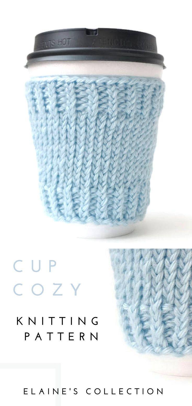 Coffee Sleeve, Knitting Patterns, Gift, Printable, Knit, PDF, Coffee ...