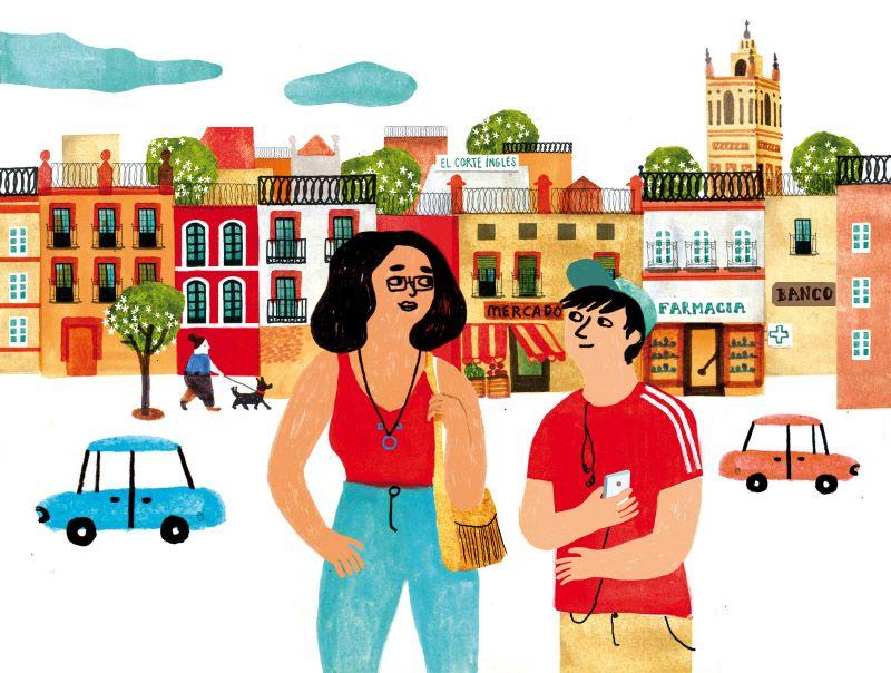 Caminando por las calles aprendemos español de la mano de Natur & Kultur y Ana Pez.