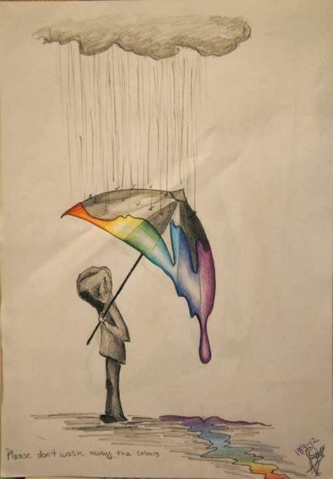 40 kreative und einfache Ideen für Farbbleistiftzeichnungen #pencildrawingtutorials