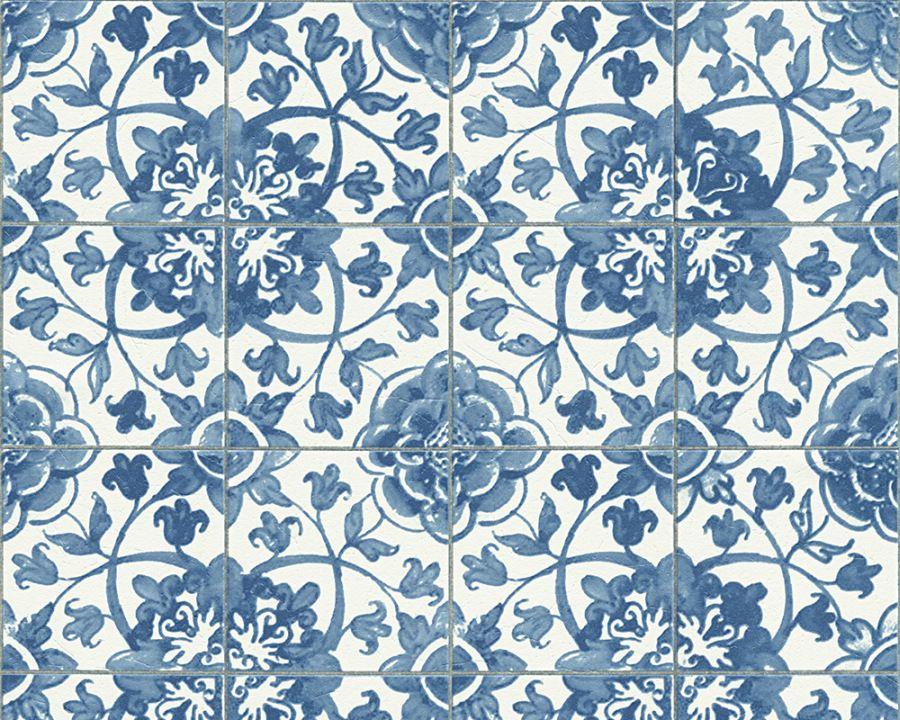 Landhaus Fliesen details zu a s faro 4 96247 1 tapete papier floral natur blau