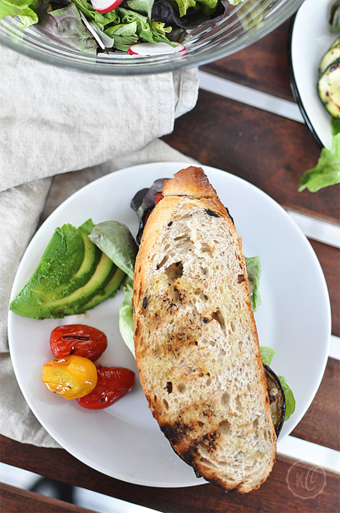 grilled eggplant sandwich - vegan   www.kathiescloud.com