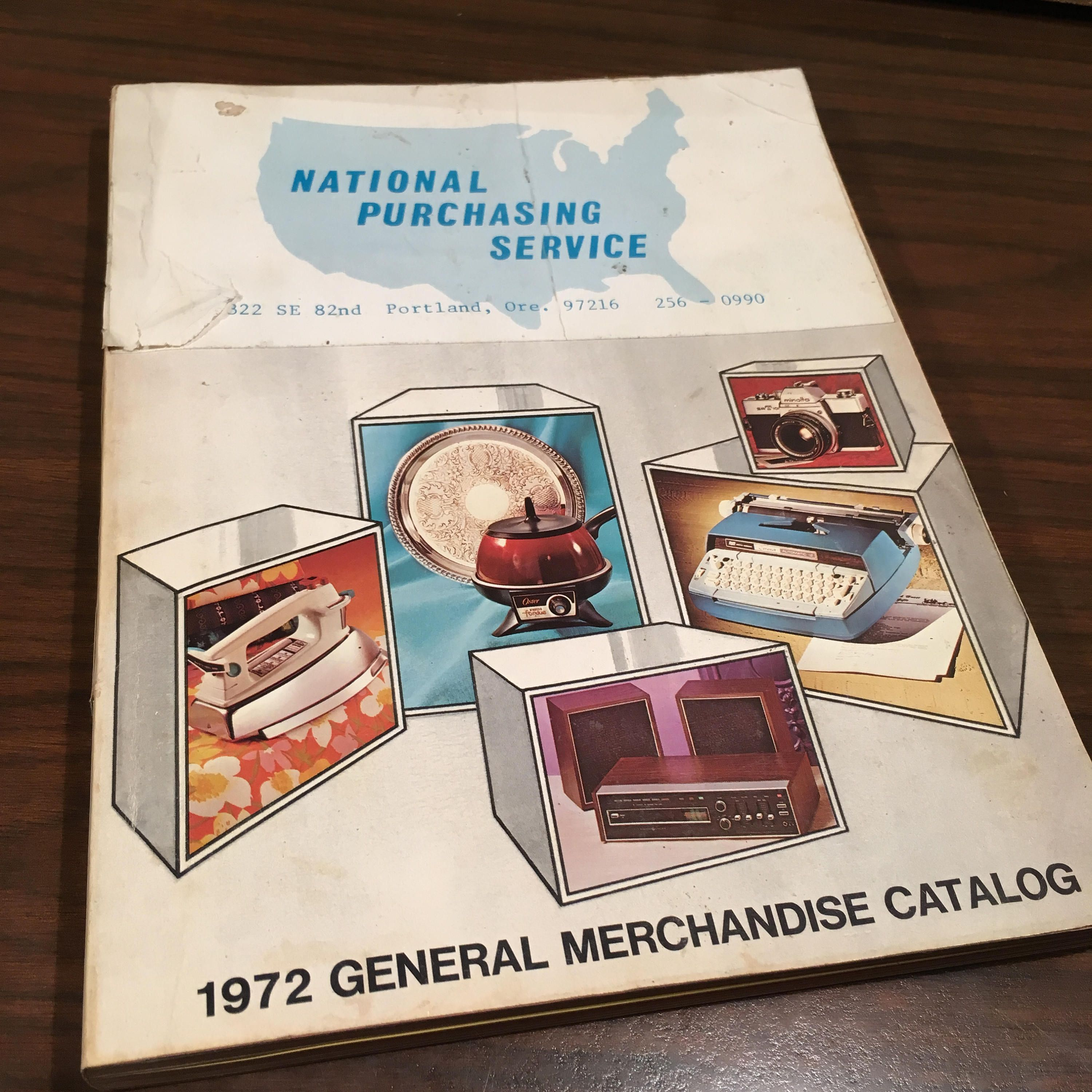 National Purchasing Service 1972 General Merchandise
