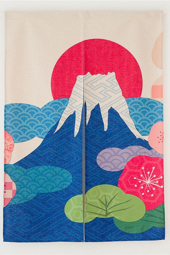 Japanese Curtain Wall Tapestry Panel Curtain Noren Doorway
