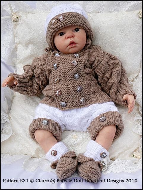 Items in Welcome to Claire s Baby & Doll Handknit Designs Shop. Here you will find KNITTING PATTERNS designed exclusively for dolls and new babies with intricate detail and excellent fit.  BUY ANY TWO PATTERNS AND GET A THIRD PATTERN FREE - OFFER EXPIRES ON SUNDAY 6TH SEPTEMBER AT MIDNIGHT.  Also for sale are handknitted outfits all from original Claire s Baby & Doll Handknit Designs patterns.  shop on eBay.