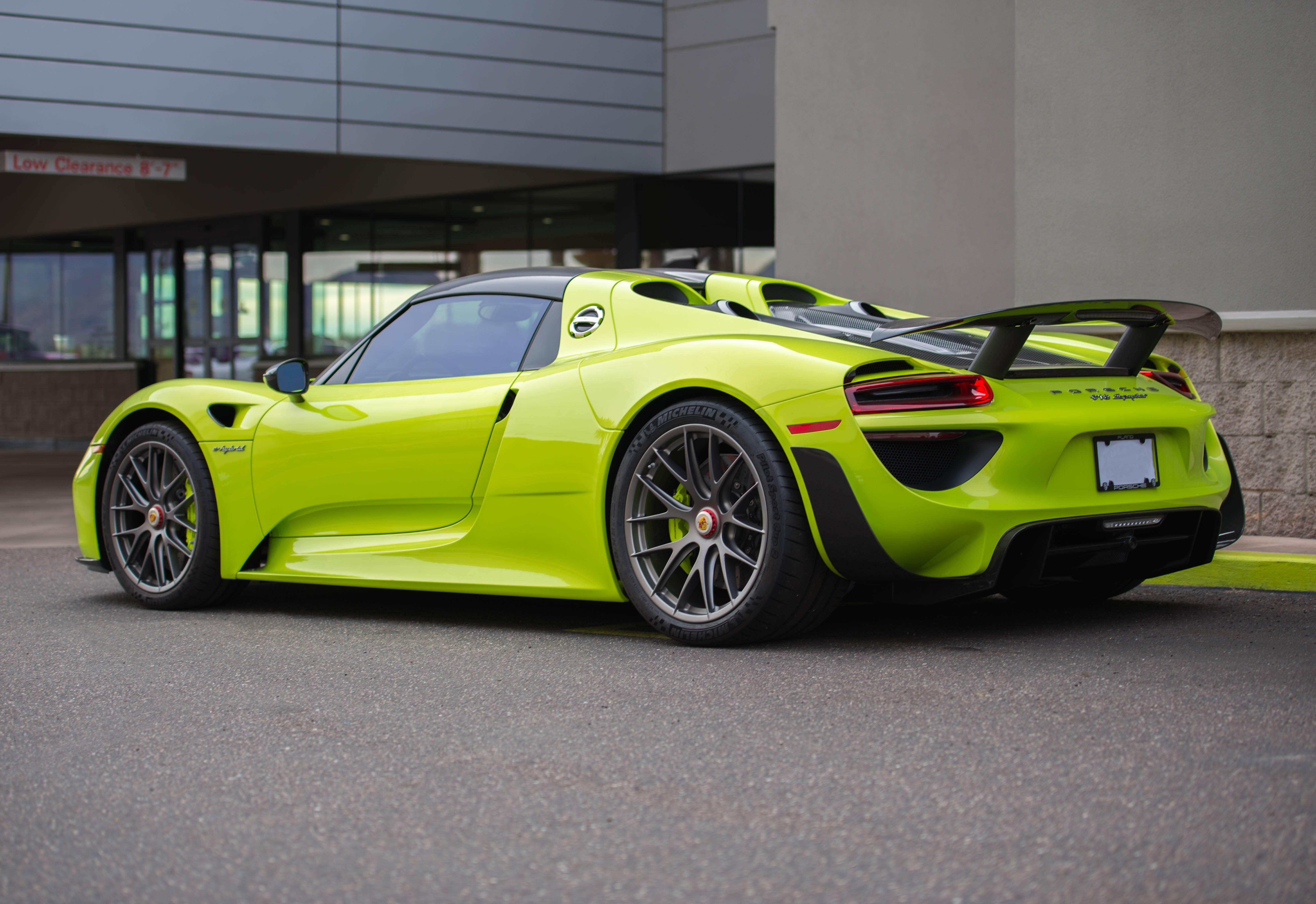 64e9e63944656664f141a4b1093ccef1 Gorgeous Porsche 918 Spyder Acid Green Cars Trend