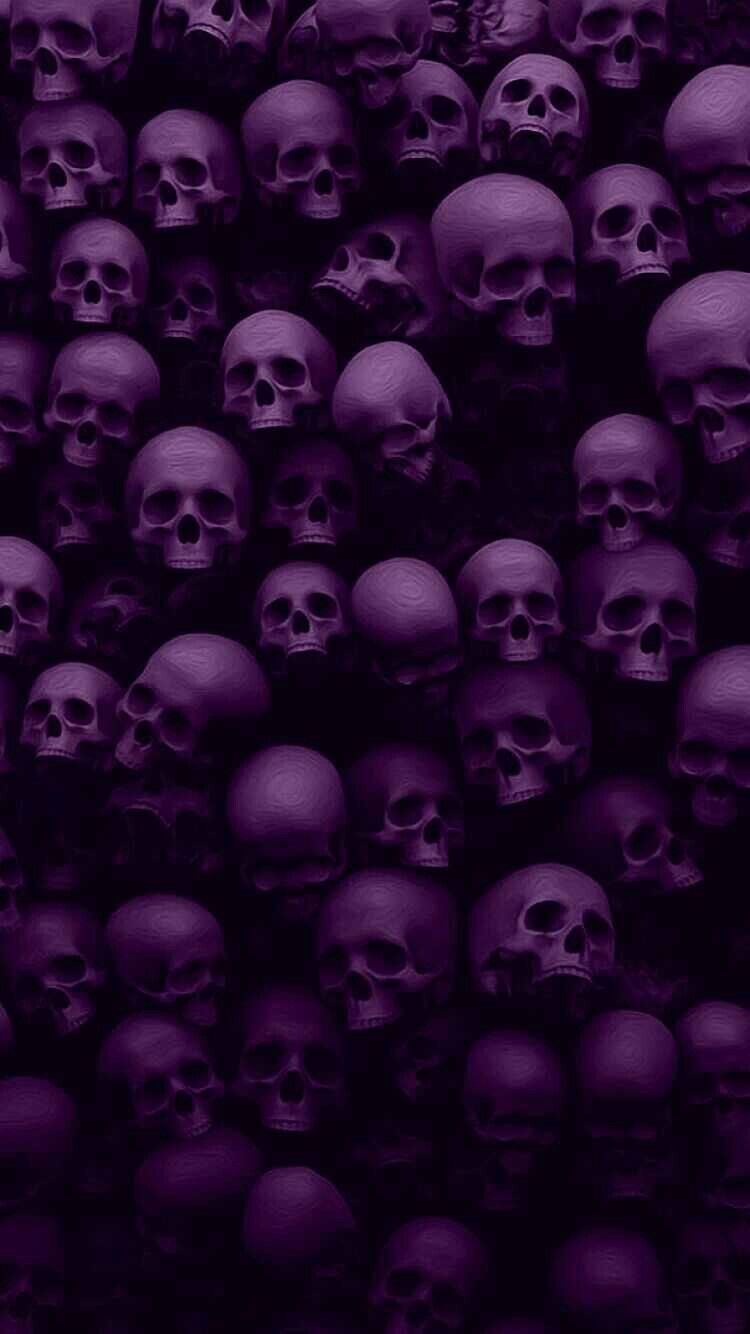 Purple Skulls wallpaper   perfect for a slightly nervous child s     Purple Skulls wallpaper   perfect for a slightly nervous child s bedroom   K