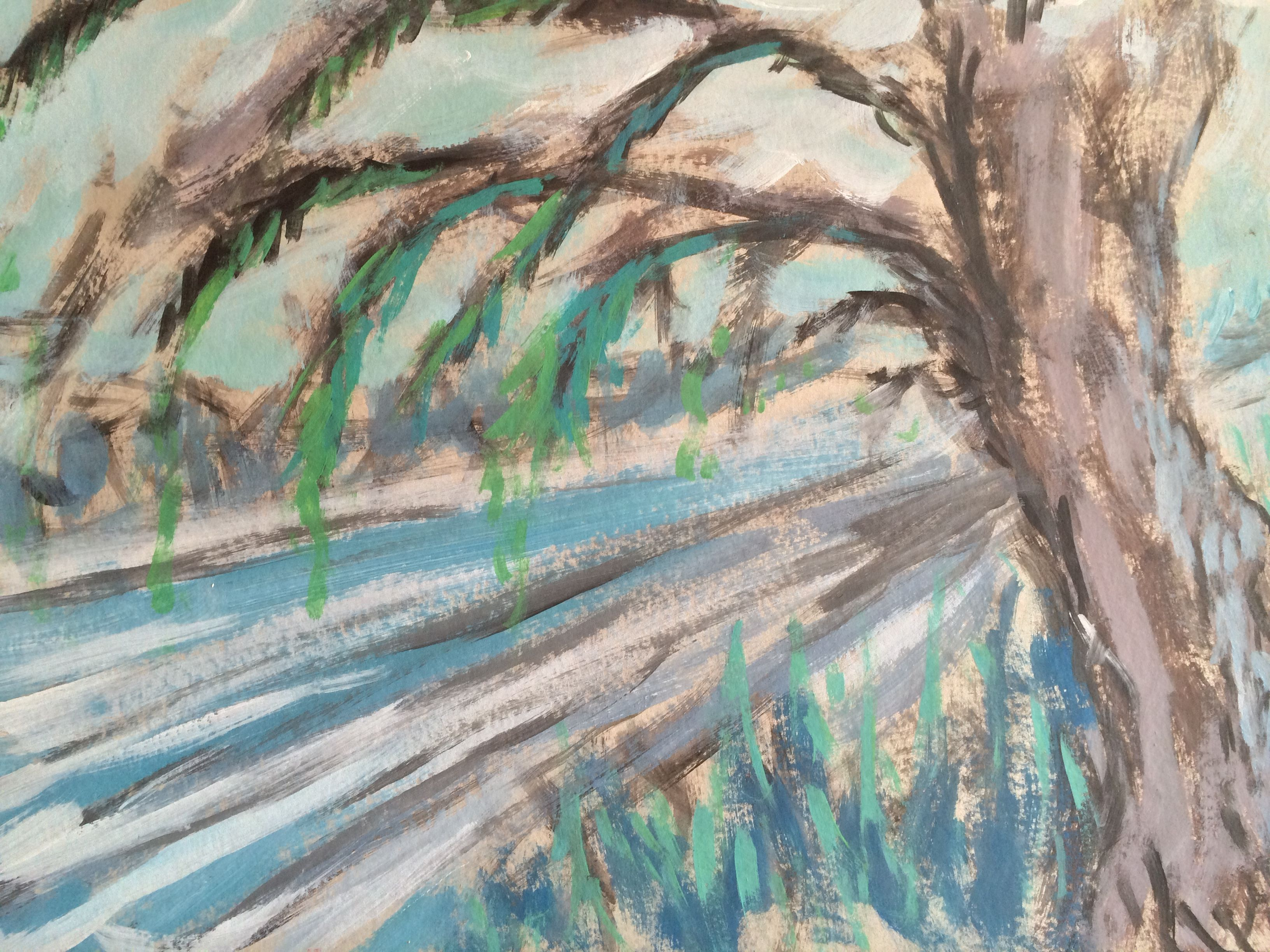 """Winterreise 3""; acryl op karton, 2000"