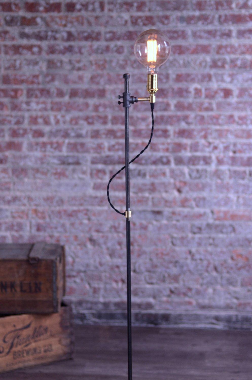 Minimalist Floor Lamp Industrial Lamp Edison Bulb Light