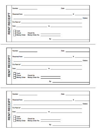 printable rent receipts - Free Printable Receipt