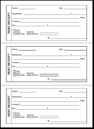 tenant receipt template