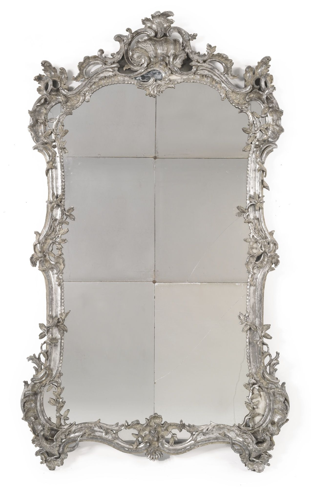 A large german rococo carved and silvered mirror mid 18th century a large german rococo carved and silvered mirror mid 18th century lot sothebys amipublicfo Images
