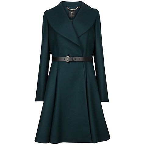 Ted baker green wool coat