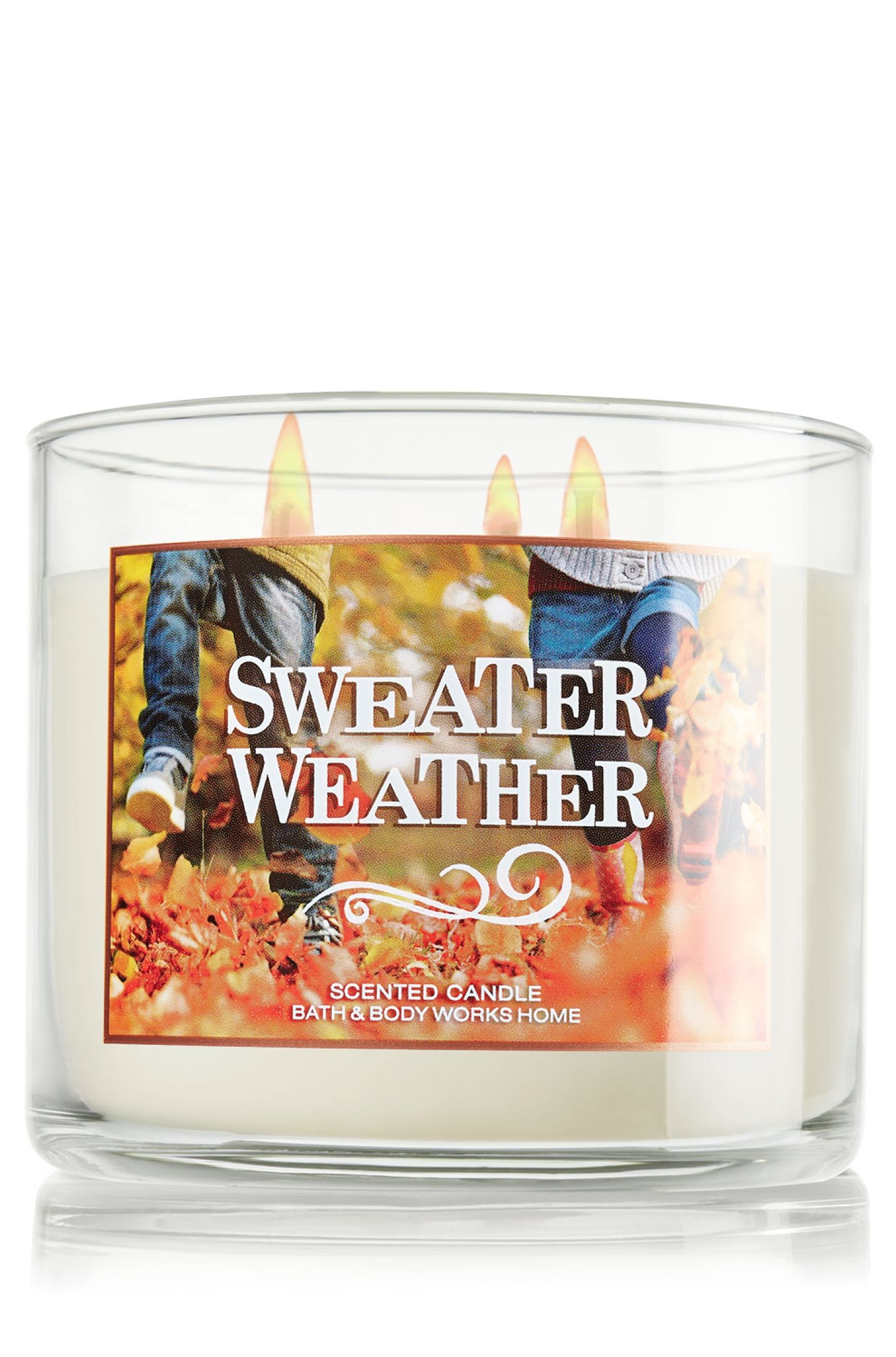 Sweater Weather 3 Wick Candle Home Fragrance Bath Body Works