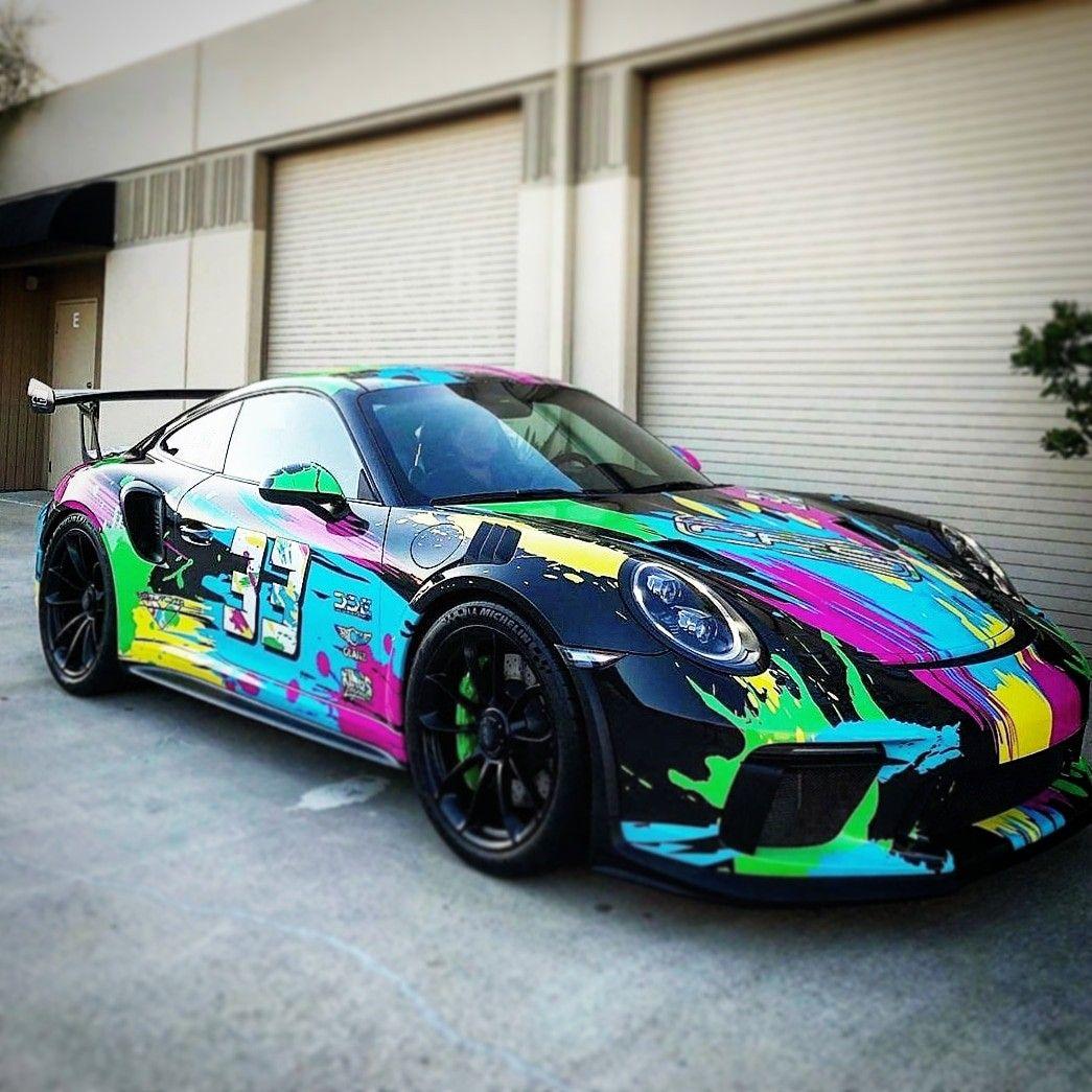 Porsche With Amazing Wrap Cool Sports Cars Sports Car Porsche Cars