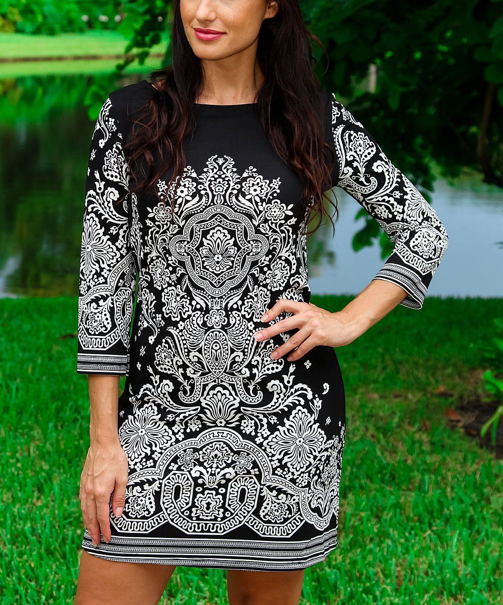 Black & White Arabesque Dress