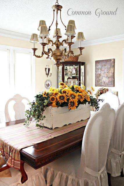 Common Ground Everything S Coming Up Sunflowers Decor Dining Room Decor Summer Table Decorations
