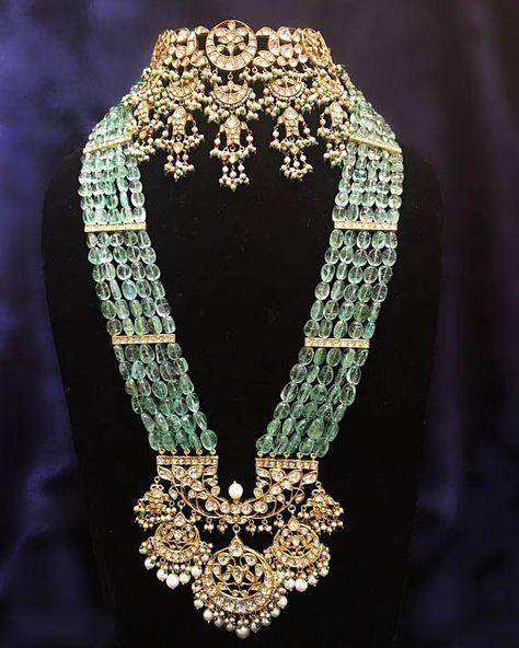 Kundan Silver Polki Choker Indian Jewelry, Rani Ha
