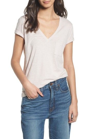 Free shipping and returns on Madewell Whisper Cotton V-Neck Pocket Tee at Nordstrom.com. A classic pocket tee with a deep V-neckline is spun from soft, lightweight slub cotton in a spectrum of colors that add punch to your everyday wardrobe.