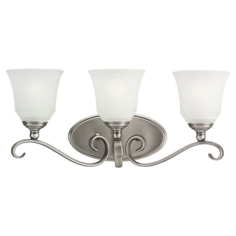 Sea Gull Lighting 49382BLE Parkview 3 Light Energy Star Title 24 Bathroom Vanity Antique Brushed Nickel Indoor Lighting Bathroom Fixtures Vanity Light