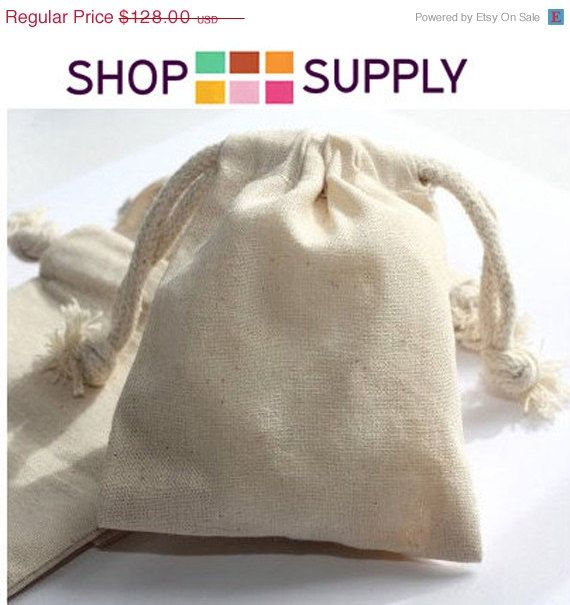 15 OFF TODAY  96  Muslin Bags 5x8 Inch   Wedding by ShopSupply, $108.80