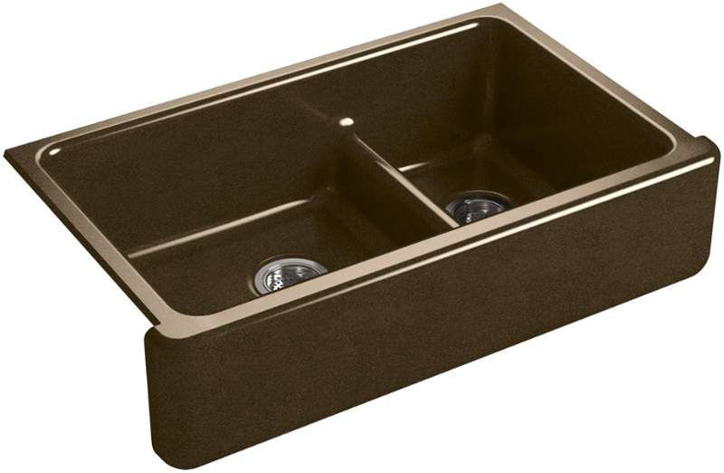 Kohler K 6427 Double Bowl Kitchen Sink Cast Iron Farmhouse Sink Cast Iron Kitchen Sinks