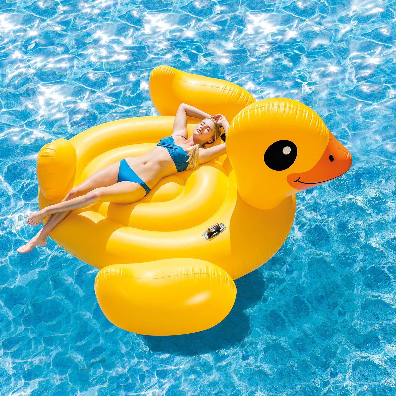Intex Inflatable Mega Yellow Duck Island Float Walmart