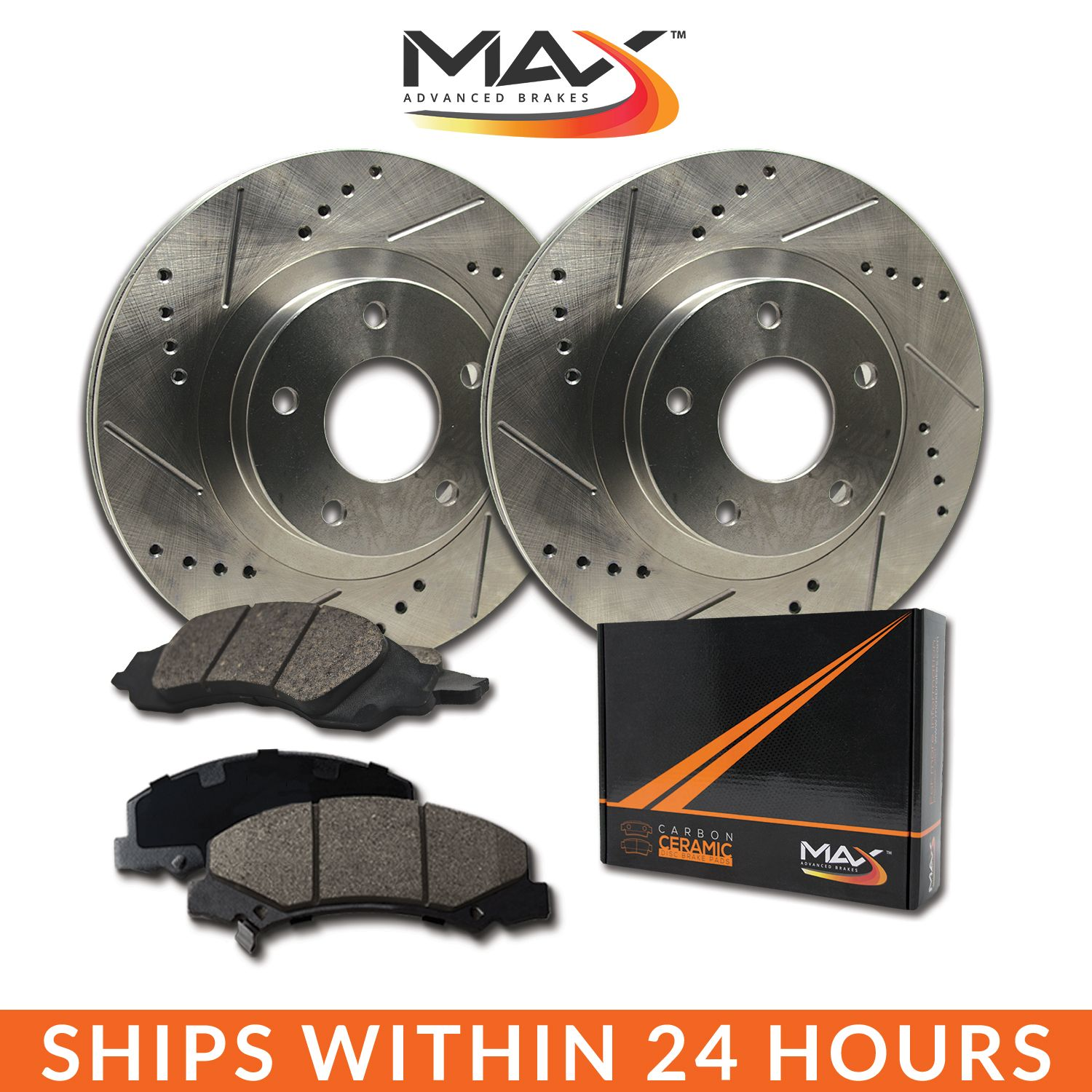Rear Drill /& Slot Brake Rotors And Metallic Pads For 1999 2000 BMW 323i E46