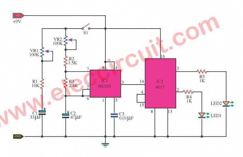 electronic dice circuit wiring diagrams manual e books Electronic Dice Circuit Diagram digital dice circuit diagram using ic 555 ic 4017 data wiringdigital dice circuit diagram using ic