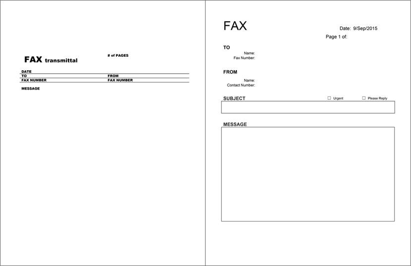 20 Free Fax Cover Templates    Sheets In Microsoft Office