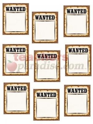 Western Wanted Posters Accents from TeachersParadise.com | Teacher ...