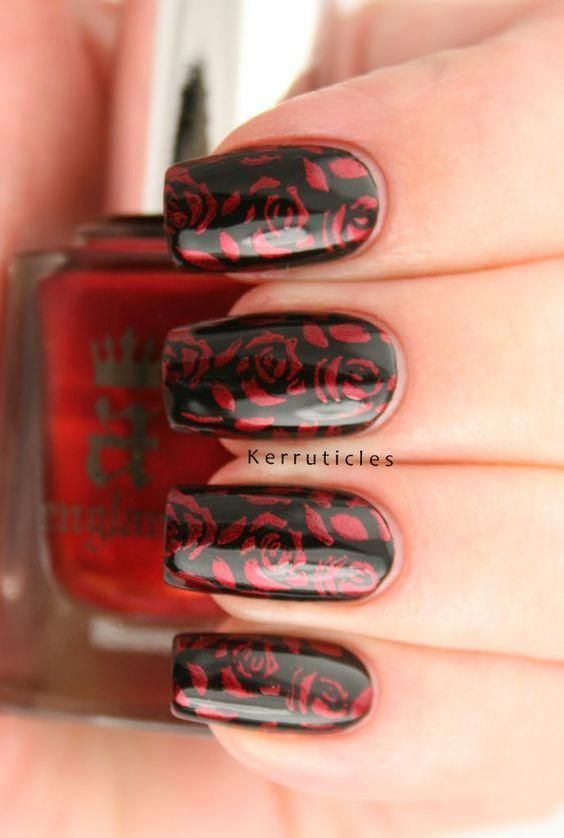 14 amazing nail art designs inspired by red and black