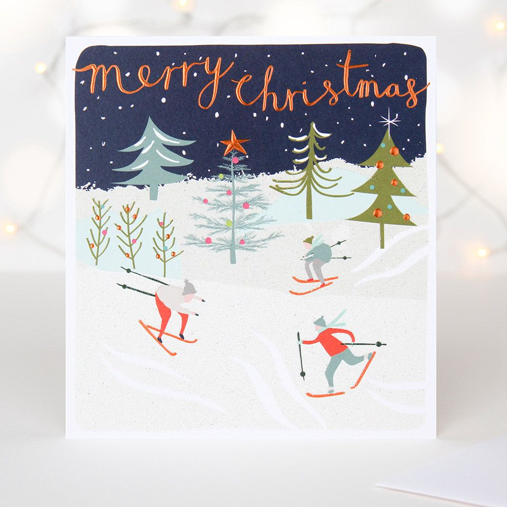 Inspired by vintage Christmas illustrations, this elegant luxury ...