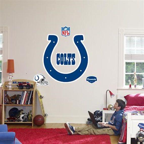 Fathead Indianapolis Colts Logo Real Big Mural - Wall Sticker Outlet ...