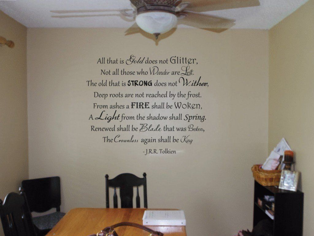 Amazon all that is gold does not glitter tolkien vinyl wall amazon all that is gold does not glitter tolkien vinyl wall decal amipublicfo Choice Image
