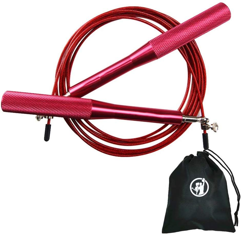 10ft// 3Meters Adult Weighted Gym Skipping Rope Jump Rope Boxing Adjustable Speed