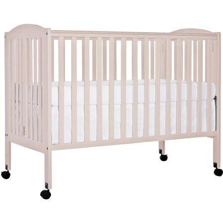 Dream On Me 2 In 1 Folding Full Size Crib White Walmart Com Portable Crib Cribs Dream On Me