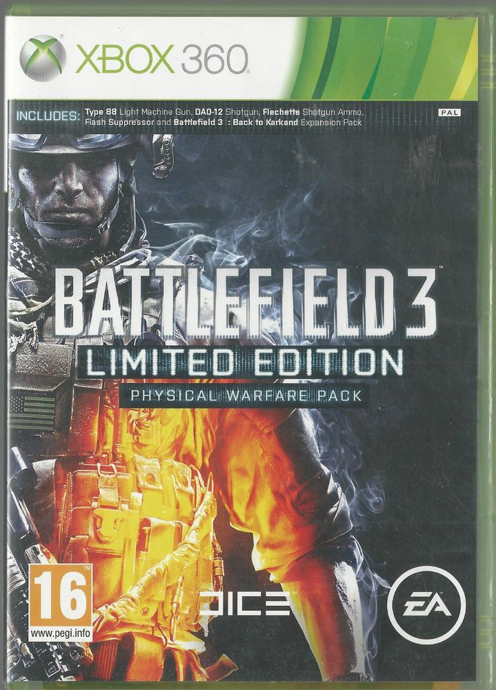 Xbox 360 Battlefield 3 Limited Edition With Images Xbox