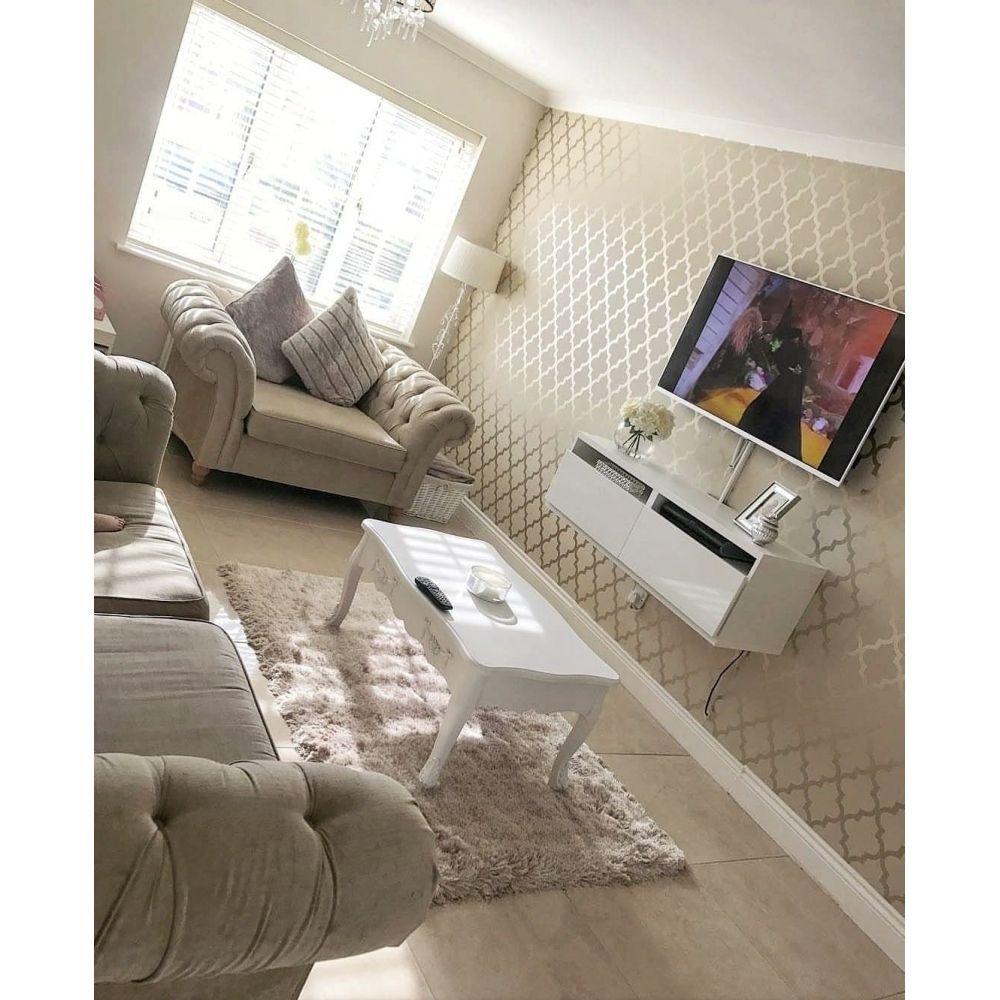 Camden Trellis Wallpaper Cream Gold Gold Wallpaper Living Room Living Room Decor Apartment Gold Living Room