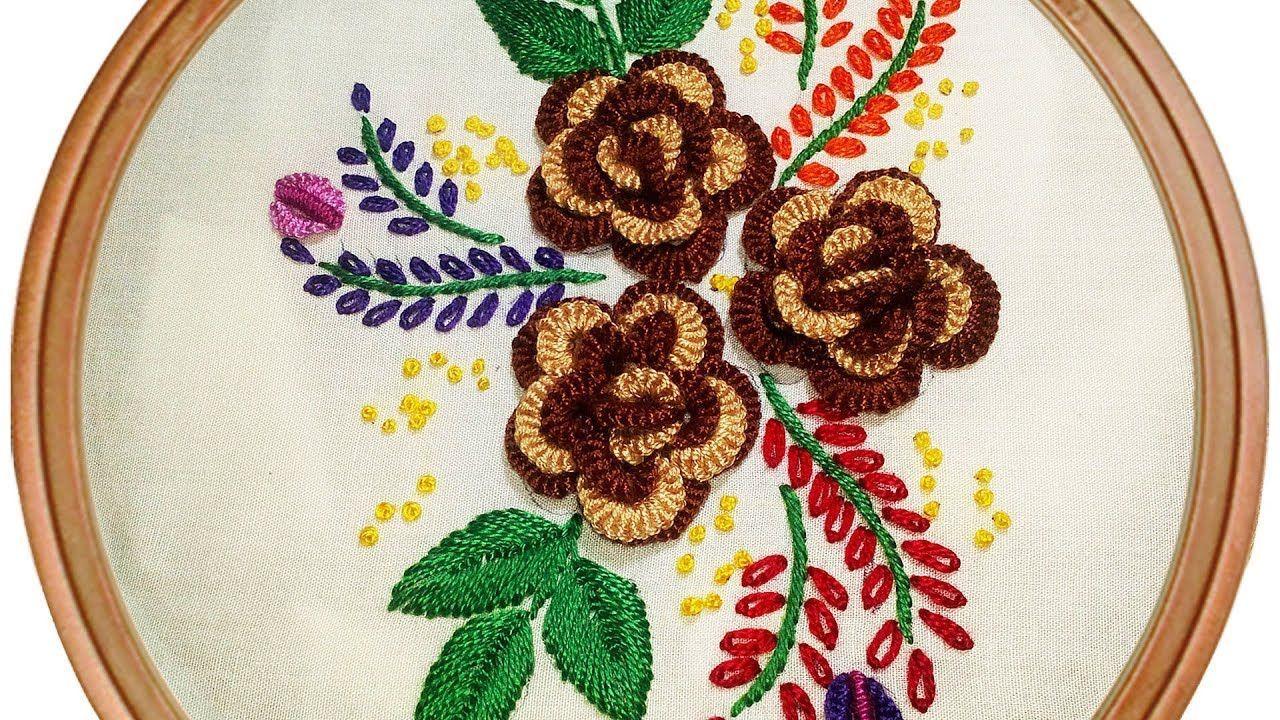 Hand embroidery design d flower brazilian embroidery brazilian