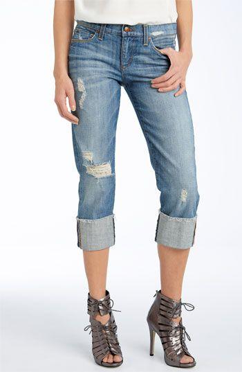 Joe's Jeans 'Kicker' Cuff Stretch Denim Capris (Kursten Wash ...